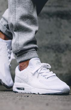 NIKE AIR MAX ZERO Triple White #sneakernews #Sneakers #StreetStyle #Kicks
