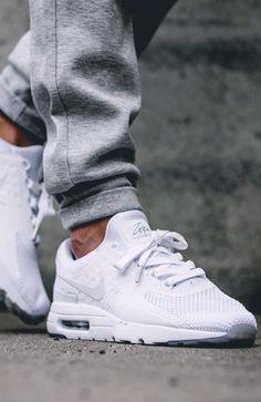 NIKE AIR MAX ZERO Triple White #sneakernews #Sneakers #StreetStyle #Kicks