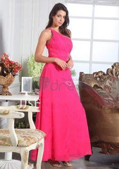 Evening Dresses 2014-A-Line One-Shoulder Floor-Length Chiffon Charmeuse Evening Dresses 2012