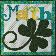 """Variation of March """"Count on It"""" BOM,  letters in different colors.  Design by Nancy Halvorsen"""