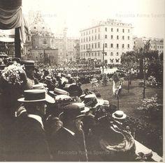 Piazza Venezia.Inaugurazione del monumento a vittorio emanuele. giugno 1911