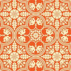 PWJD068 · HIstoric Tile · Tangerine