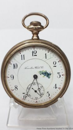 abbcdc37f Scarce Gold Montreal Hamilton 974 Ticking Men's 17J Pocket Watch Need  Repair #Hamilton Old Pocket
