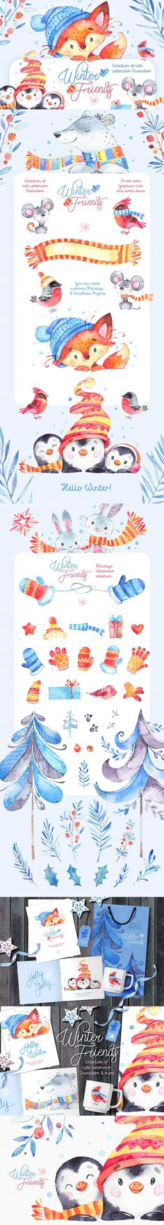 This Great Winter collection is just what you needed for the perfect #invitations, #Holidays projects, paper products, party decorations, #printable, #greetings cards, #posters, #stationery, #scrapbooking, stickers, t-shirts, baby clothes, #web #designs and much more.