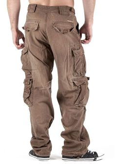 JET LAG Mens Cargo Pants 007 chocolate brown: Amazon.de: Clothing