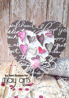 Valentine Heart Shaped card featuring Cricut and WRMK - Scrapbook.com