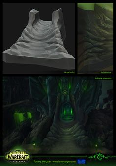 ArtStation - Tomb of Sargeras and Legion buildings - World of Warcraft, Fanny Vergne