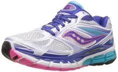 Saucony Women's Guide 8 Running Shoe,White/Twilight/Pink,8.5 M US