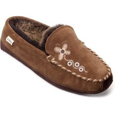 """79. Slippers. I'm not sure my Qwaruba Canoe Moc Slippers are what Nina had in mind. While not """"puffy"""" they are entirely """"comfy"""" and could easily be pinned on my 'Products That Changed My Life' board."""