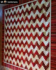 Sharing some red & white Scrappy Mountain Majesty love by  @loerlemans!  Gorgeous!  The pattern including many different layouts is found under the free patterns tab at the top of my blog.  Http://quiltville.blogspot.com ・・・ Red and white Scrappy Mountain Majesties flimsy is finished. It's a Bonnie Hunter free pattern. #scrappymountainsmajesties #bonniehunter #scrappyquilt #redandwhitequilts #quilt #quilting #patchwork #quiltville #bonniekhunter #quiltsbyyou