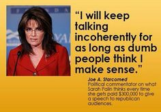 Sarah palin dumb ass slut pig
