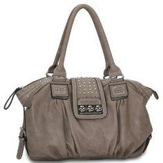 f3608fd0d15 Camel Designer Inspired Metal Studded Soft Leatherette Shopper Hobo Tote  Shoulder Bag Satchel Handbag Purse - - Be inspired by this gleaming stud  trim.