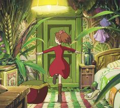 my gifs studio ghibli the secret world of arrietty the borrower arrietty studioghibligif studioghibliedit Hayao Miyazaki, Studio Ghibli Films, Art Studio Ghibli, Film Manga, Manga Anime, Anime Art, Totoro, Secret World Of Arrietty, The Secret World