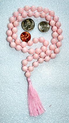 JADE MASHAN PINK JADE HAND KNOTTED EXCLUSIVE JAPA MALA 10 MM BEADS TOP GRADE PRAYER NECKLACE. BLESSED & ENERGIZED (54+1) HINDU TIBETAN BUDDHIST PRAYER KARMA BEADS SUBHA ROSARY MALA FOR NIRVANA, BHAKTI, FOR REMOVING INNER DOSHAS, FOR CHANTING AUM OM, FOR AWAKENING CHAKRAS, KUNDALINI THROUGH YOGA MEDITATION-FREE OM MALA POUCH INCLUDED AWAKEN YOUR KUNDALINI http://www.amazon.com/dp/B00Z79V9NQ/ref=cm_sw_r_pi_dp_nOa2vb0MNT4G6