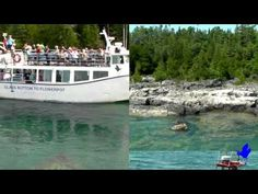 Blue Heron Company in Tobermory Ontario Offers Glass Bottom & Jet Boat Cruises, Motel, Cottage Rentals, Gift Shops and more! Come see for yourself! Family Trips, Family Travel, Tobermory Ontario, Flowerpot Island, Cottage Rentals, Glass Bottom Boat, Ontario Travel, Jet Boat, Gift Shops