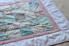 Baby Tilda Patchworkdecke , aus reiner Baumwolle von made_by_JaLy auf DaWanda.com