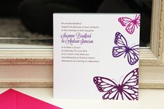 Butterfly invitations (30)