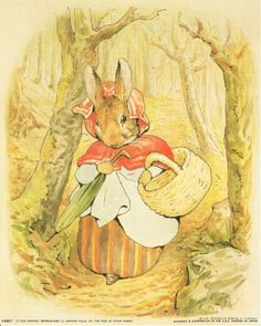 Wow! This is an antique poster which depicts the tale of a mischievous little rabbit by Beatrix Potter's. This poster will be a perfect addition for your children's room. Beatrix Potter's tale has been loved by children for generations. This poster is made of using high quality papers with a perfect color accuracy which ensures that your posters last a lifetime without fading.