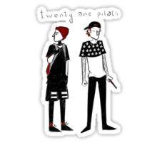 Twenty One Pilots Drawing Sticker