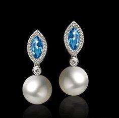 Pendientes Sakura perlas