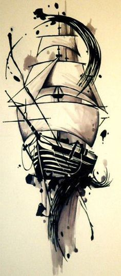 """Ship tattoo idea with - """"She is tossed by the waves, but does not sink"""" I doubt . - Ship tattoo idea with – """"She is tossed by the waves, but does not sink"""" I doubt I'll ever g - Trendy Tattoos, New Tattoos, Tattoos For Guys, Cool Tattoos, Temporary Tattoos, Ankle Tattoos, Arrow Tattoos, Awesome Tattoos, Tattoo Barco"""
