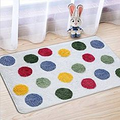 Amazon.com: Fashion Dream Microfiber Bathroom Rug bath mats- Non-slip Soft Absorbent Decorative Bath Floor Mat Carpet Door mat.Polka Dot (Wide 20 Inch x Length 32 Inch): Home & Kitchen