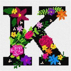 Needlepoint Designs, Needlepoint Kits, Needlepoint Canvases, Cross Stitch Alphabet Patterns, Cross Stitch Bookmarks, Canvas Letters, Letters And Numbers, Brick Stitch, Cross Stitching