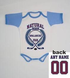 Avalanche Baby Bodysuit Infant Custom Name and Number Shirt Personalized  Jersey cbbfebbe0