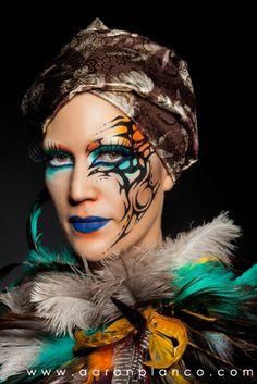 """Maquillaje """"Moros y Cristianos"""" Maquillaje: Aarón Blanco Modelo: Lorena Navarro Costa Fotografía: J. Alfaro García - Fotografías Atrezzo: Juan Diego Pretel"""