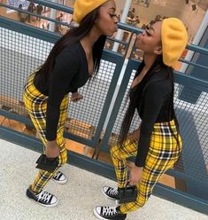 Boujee Outfits, Swag Outfits For Girls, Cute Swag Outfits, Girls Fashion Clothes, Retro Outfits, Matching Outfits Best Friend, Best Friend Outfits, Black Girl Fashion, Tomboy Fashion