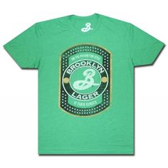 Brooklyn Lager Classic Logo Green T Shirt. Official from Brooklyn Lager!