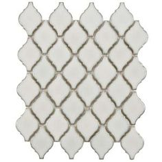 Merola Tile Arabesque Selene 9-7/8 in. x 11-1/8 in. x 6 mm Porcelain Mosaic Floor and Wall Tile-FDXARSL at The Home Depot