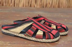 Tribal Naga Mens Shoes in Ethnic Textiles by SiameseDreamDesign, $46.00