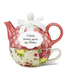 Autumn Rose Tea for One Set #zulily #zulilyfinds