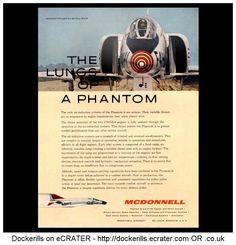 McDonnell Phantom II Advert - Lungs Of A Phantom. From Interavia Magazine, 1961.