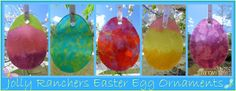Jolly Ranchers *Stained Glass* Easter Egg Ornaments - If you have an Easter Tree, these are cute ornaments