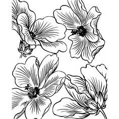 Silk Screen Dog Wood Flowers No 084 by SilkScreenStudio on Etsy, $15.00