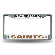 New Orleans Saints NFL Chrome License Plate Frame