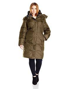 a44abb83c3 Awesome London Fog Women s Plus Size Fur Collar Down with Hood Winter Coats  Women