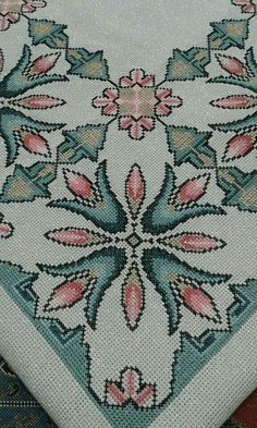 This Pin was discovered by Neş Beaded Cross Stitch, Cross Stitch Borders, Cross Stitch Flowers, Cross Stitch Designs, Cross Stitching, Cross Stitch Embroidery, Embroidery Patterns, Hand Embroidery, Cross Stitch Patterns