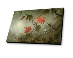 Passion Flowers and Humminbirds 1865 by Matin Johnson Heade Painting Print
