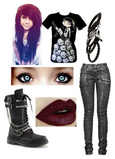 """""""emo"""" by lea113111 ❤ liked on Polyvore featuring мода, Erickson Beamon и Demonia"""