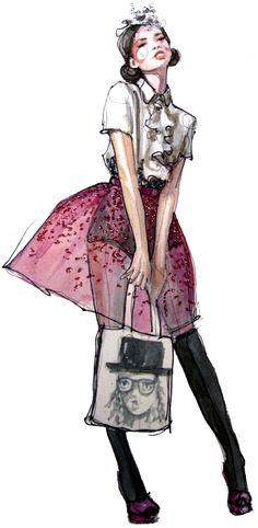 fashion illustration: chanel iman Vintage  Must try drawing this. Like the rendering.