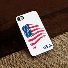 Buy Personalized White Trimmed iPhone Case - Proud to Be an American iPhone Case with White Trim. Gifts & Baskets - Personalized White Trimmed iPhone Case - Proud to Be an American iPhone Case with White Trim. Monogram Initials, Monogram Letters, White Trim, Black Trim, Personalised Gifts For Him, White Iphone, Phone Cover, Apple Iphone, How To Memorize Things