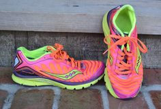 Saucony Kinvara 3 Athletic Running Shoes Women's Size 7 Pink Purple Orange Neon | eBay