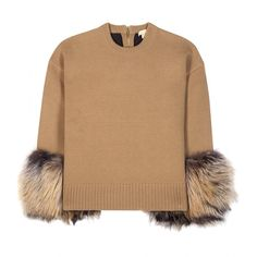 Michael Kors collection - Cashmere and wool-blend fur-trimmed sweater