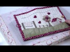 ▶ Broderie : Réaliser une trousse en patchwork brodé avec Marie Suarez - L'Atelier Edisaxe - YouTube