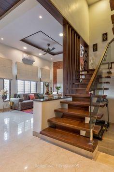Duplex House Design, House Ceiling Design, Home Stairs Design, Home Building Design, Small House Design, Staircase Interior Design, Interior Design Your Home, Modern Exterior House Designs, Latest House Designs