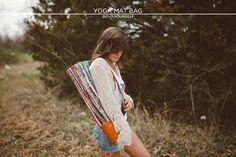 Yoga Mat Bag DIY // http://sincerelykinsey.blogspot.com/2013/04/yoga-mat-bag-diy.html