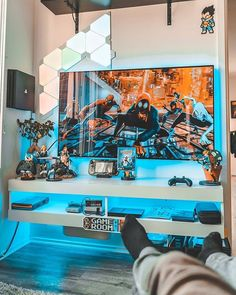 40 best ideas for video game rooms + cool gaming setup manual)Best ideas for video game rooms: cool gaming setup designs, decor for player rooms and decorating ideas for apartments - bedroom, living room, Ultimate Gaming Room, Best Gaming Setup, Gaming Room Setup, Gaming Rooms, Gaming Desk, Computer Desks, Nerd Room, Gamer Room, Small Game Rooms